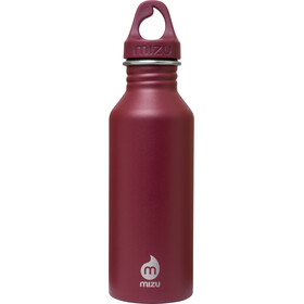 MIZU M5 juomapullo with Burgundy Loop Cap 500ml , punainen
